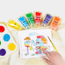 лучшая цена Children's finger paints watercolor painting graffiti kindergarten baby non-toxic washable kid paint set  kids crafts and arts