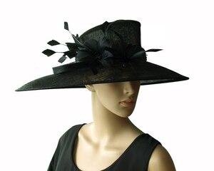 Image 5 - Commercio allingrosso di NEW BIG TESA larga vestito Sinamay cappelli Chiesa, per le gare, Melbourne cup, matrimonio kentucky derby. TRASPORTO LIBERO