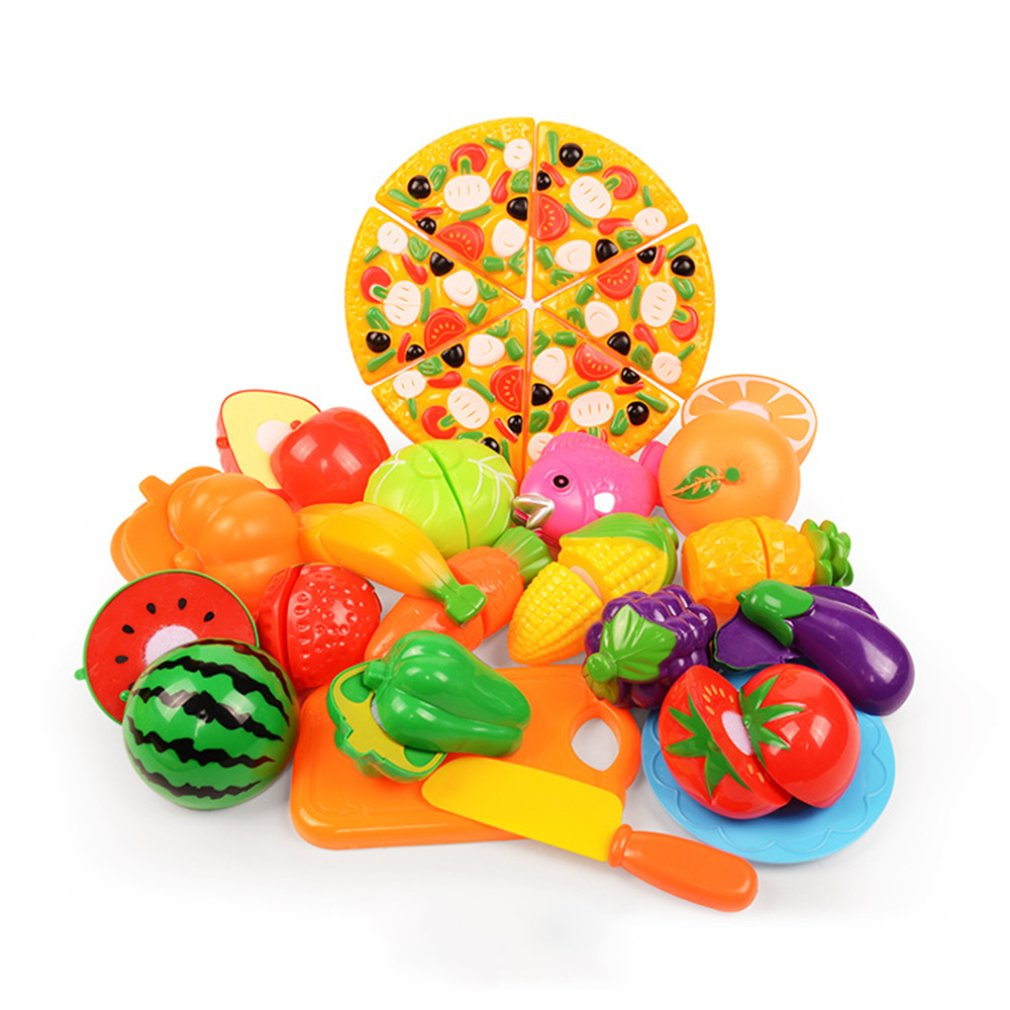Vegetables And Fruits Children'S Kitchen Toys Set Puzzle Early Childhood Toys Children Play House Toys image