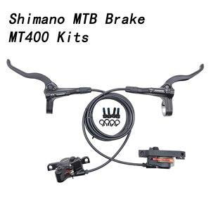 SHIMANO MT400 Brake Mountain Bike 2 piston Hidraulic Disc Brake MTB Left Right RT20 RT26 G3 rotors M445 M446 MT200 MT420 brakes(China)