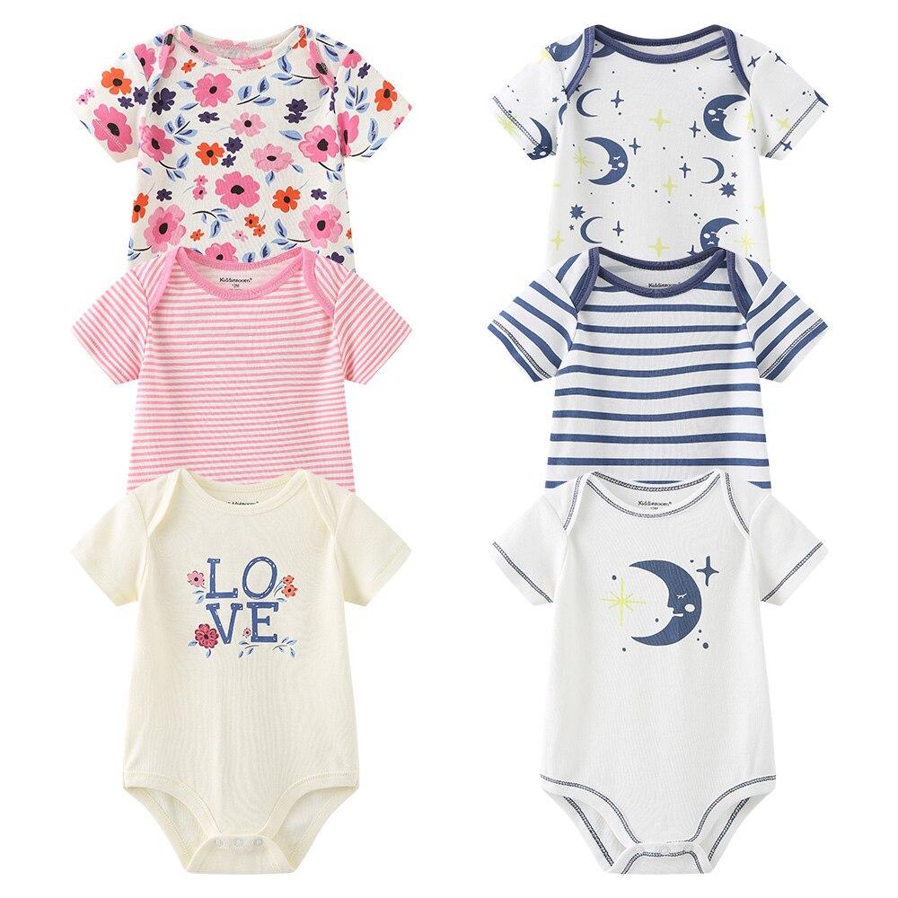 Roupa da menina do bebê bodysuit menino recém-nascido manga curta infantil criança traje de algodão ropa corpo bebe fille noissance roupa gemeo