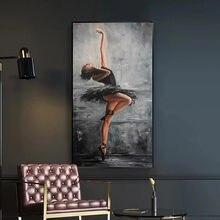 Tuval resimleri duvar sanatı portre sanat duvar sanat posterleri ve baskı duvar sanatı güzel balerin resim oturma odası ev dekor için