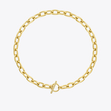 ENFASHION Punk Circle Choker Necklaces For Women Gold Color Stainless Steel Chunky Chain Necklace 2020 Fashion Jewelry P203142
