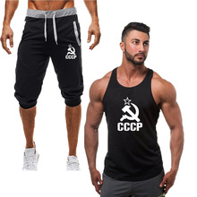 2019 Fashion new tracksuit men Two Piece Casual short pant+tank top summer cool Sweatshirts Suit Male chandal hombre jogging hom
