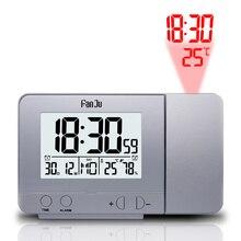 FanJu FJ3531 โปรเจคเตอร์ดิจิตอลนาฬิกาปลุก LED อิเล็กทรอนิกส์ Snooze Backlight อุณหภูมิความชื้นนาฬิกาเวลาฉาย