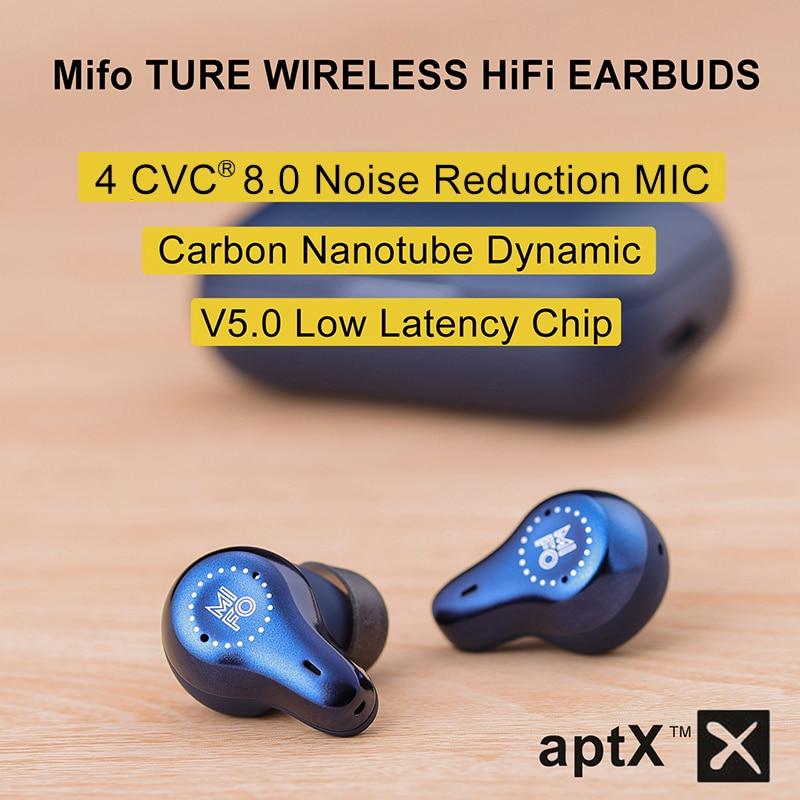 Earphones APTX Earbuds Bluetooth Dynamic Mifo O7 Noise Cancelling True Wireless