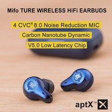 Mifo O7 Echte Draadloze Oordopjes Bluetooth 5.0 Koolstof Nanobuis Dynamische Oortelefoon Aptx Noise Cancelling Tws Oordopjes Met 4 Microfoons