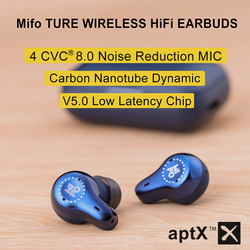 Mifo O7 True Wireless Earbuds Bluetooth 5.0 Carbon Nanotube Dynamic Earphones APTX Noise Cancelling TWS Earbuds with 4 Mics