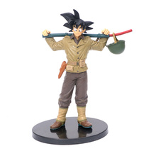 New Anime Dragon Ball Z Goku Shoulder Baggage Scenes Travel Jacket Ver. PVC Action Figure DBZ Super Saiyan Collection Model Toys model fans jacksdo dragon ball z namek house resin made scenes freeshipping