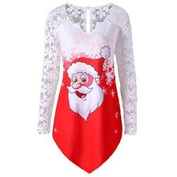 Fashion Christmas Dress Women Winter Dresses Women 2019 Winter New Christmas Print Mini Dress Long Sleeve O-neck Women Clothes 2