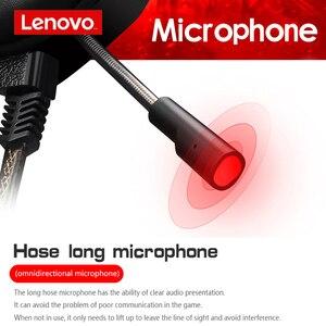Image 4 - Lenovo HU85 Gaming ชุดหูฟังสเตอริโอแบบมีสายหูฟัง USB Gaming หูฟังพร้อมไมโครโฟนสำหรับแล็ปท็อป PS4