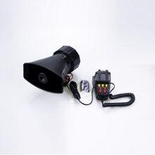 Car Siren Horn 7 Tone Vehicle Siren Speaker with Mic PA Speaker System Emergency Sound Amplifier Warning Alarm Police Fire Siren low price pa sound system 5 wall speaker mounts 10w