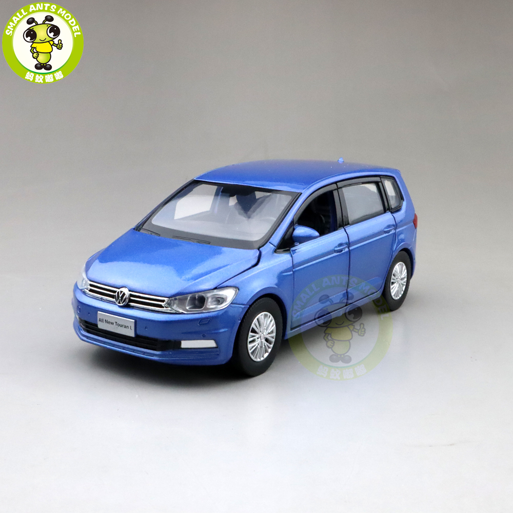 1/32 Jackiekim TOURAN MPV VAN Diecast Model CAR Toys Kids Sound Light Pull Back Gifts