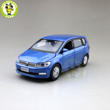 1/32 Jackiekim TOURAN MPV VAN odlewane modele zabawkowych samochodów dzieci dźwięk światła wycofać prezenty