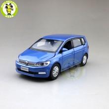 1/32 Jackiekim Touran Mpv Van Diecast Model Auto Speelgoed Kinderen Sound Light Pull Back Geschenken