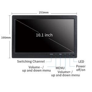 """Image 3 - 10.1 """"IPS מסך מגע 1920x1200 HDMI VGA/AV USB דיסק און קי קיבולי LCD צג תעשייתי רכב משחק"""