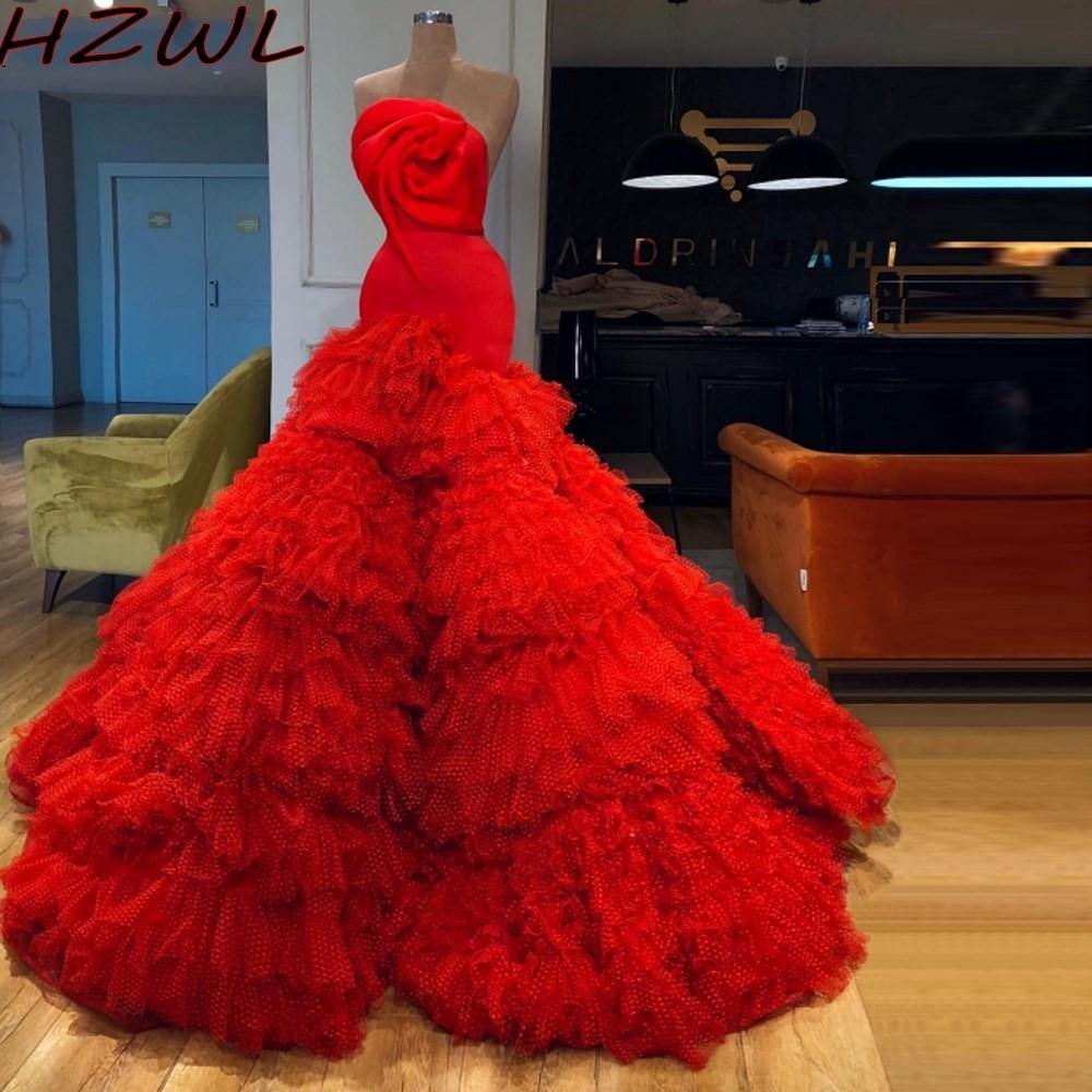 Красное шикарное вечернее женское платье для женщин многослойное