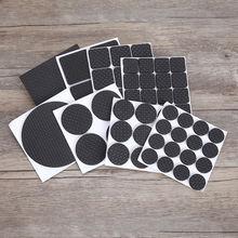 Черный 4 64 шт самоклеящиеся мебель для ног коврик войлочные