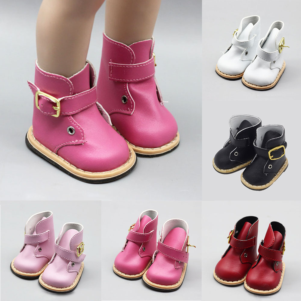 18 inch American Doll Born Baby Doll Boots Shoes Pink Red White Black Shoes Fit for 43cm Height Girls Dolls Doll Accessories(China)