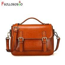цена на FGJLLOGJGSO Women bag Oil wax Women's Leather Handbag Luxury shoulder bag Lady HandBags With Purse Women messenger bag Big Totes