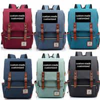 Customized Print DIY Your like Photo or Logo Boy Girl Student School bag Teenagers Schoolbags Canvas Women Bagpack Men Backpack