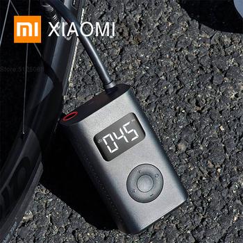 XIAOMI MIJIA Elektryczna pompa inflacyjna do motocykla Samochód Motocykl Piłka nożna i skuter Przenośne inteligentne cyfrowe wykrywanie ciśnienia w oponach Wbudowany akumulator Multi-nozzle for Smart Home Inflator tanie i dobre opinie Stop 12 4cm 0 4300 kg less than 3 hours 18650 Li-ion battery 2000mAh alloy