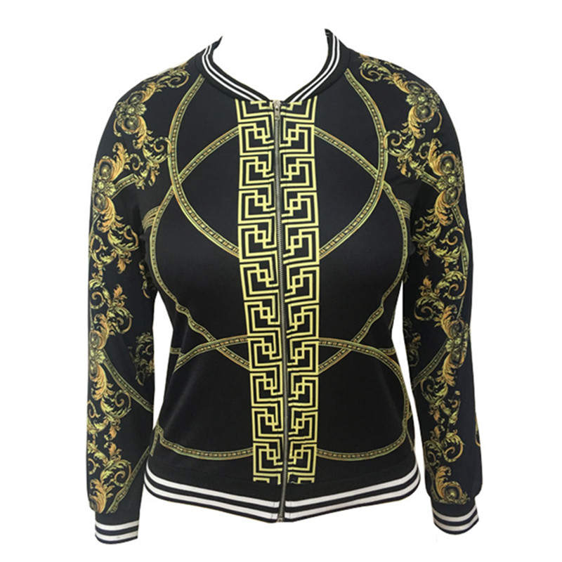 FREE RETURN Hot Sale Women Jacket Digital Positioning Printed Long- Sleeve Thin Jacket