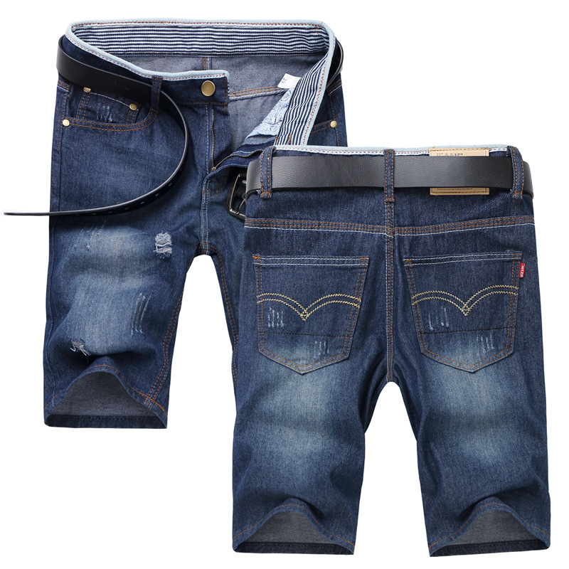Summer Men's Short JEANS Man Skinny Casual Slim Denim Pants Men's