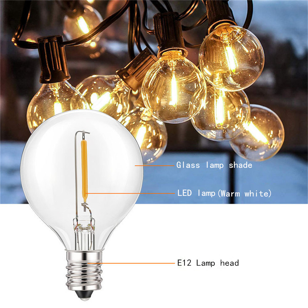 Image 3 - Solar String Lights With 10/25 Clear LED Bulbs Vintage Backyard Patio Holiday Home Lights Waterproof Hanging Lights Decoration-in Solar Lamps from Lights & Lighting