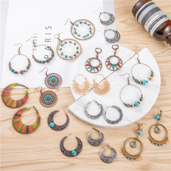 Vintage Boho Ethnic Dangle Bow Round Drop Earrings for Women Female Fashion 2019 Jewelry Hanging Wedding.jpg 350x350 - Vintage Boho Ethnic Dangle Bow Round Drop Earrings for Women Female Fashion 2019 Jewelry Hanging Wedding Earrings for Brides