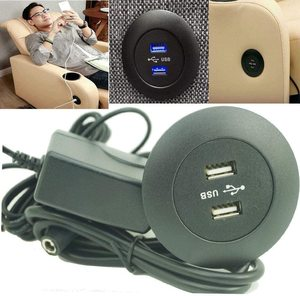 Universal - 110V / 240V Power Socket Dual USB Phone Charging Ports - for Ease Power Recliner Chair Electric Sofa Okin Limoss Lif