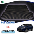 For LEXUS RX 2009-2015 Leather Car Trunk Mat Trunk Boot Mat Liner Pad Cargo pad Carpet Tail Cargo Liner Sline 2010 2011 2012