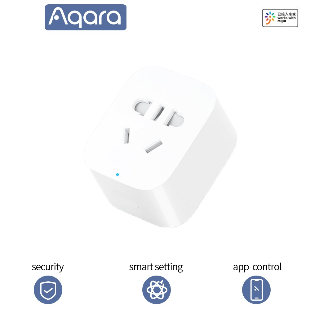 Aqara Smart Plug ZigBee Wifi Version Phone Remote Control Timer Power Detection Mihome APP for mijia Smart Socket