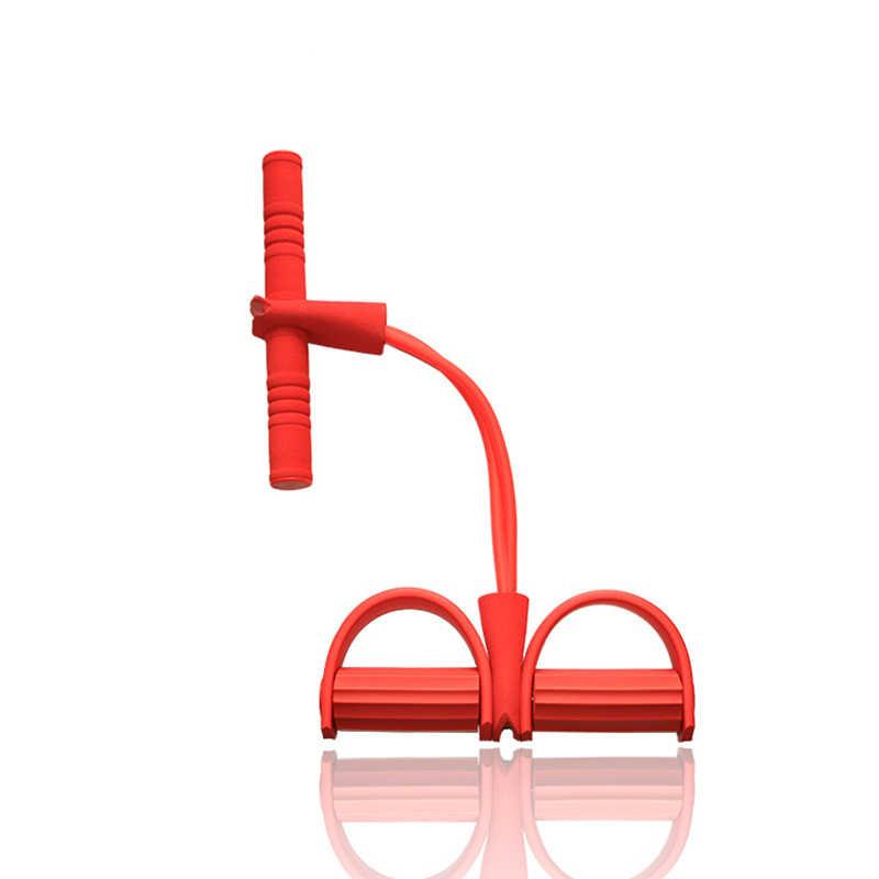 5 цветов латексная трубка Тяговая Веревка Йога Пилатес тренировки Эспандеры Напряжение Фитнес оборудование мышцы силовой тренировочный пояс