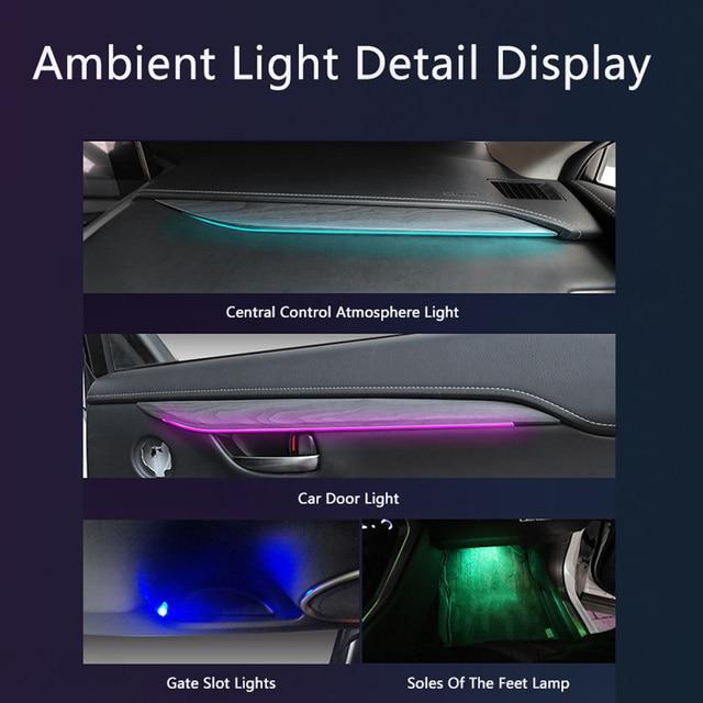 LED Ambient Light Suitable for Lexus NX 2018-2021 64-color car interior atmosphere light trim light atmosphere light modificatio 5