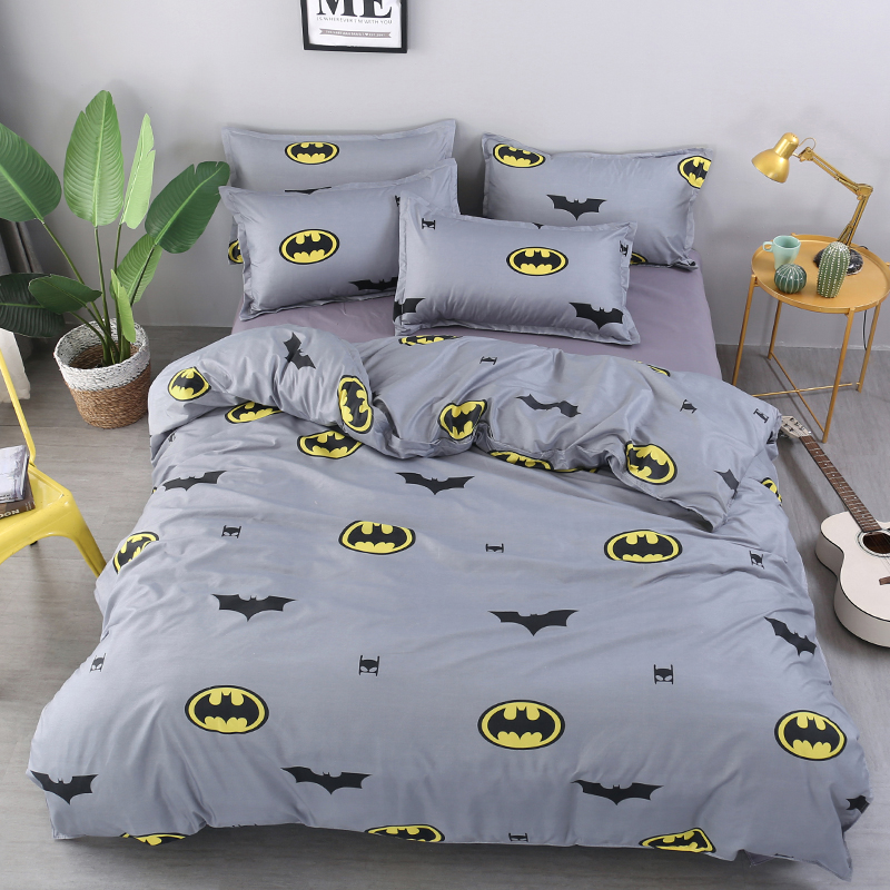 Fashion Batman Printing Bedclothes Quilt Covers Set Bedding Set 2/3Pcs Duvet Cover+ Pillowcase Bed Set