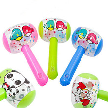 Inflatable Hammer Toys Noise-Maker Blow-Up Color-Random Kids Children with Bell 2pcs