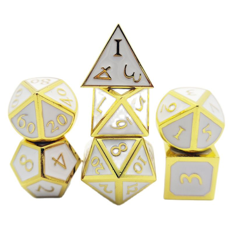 7 Pieces Metal dnd dice Role Playing Dice for Dungeons and Dragons rpg Games & Pathfinder Metal Dices Set