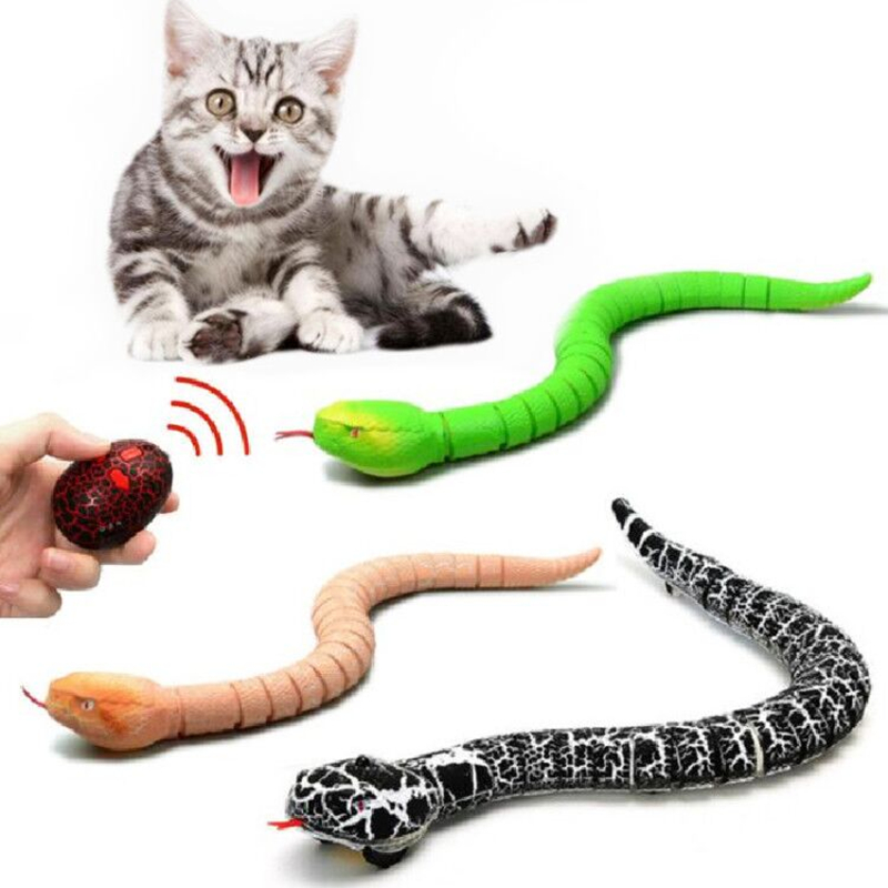 Infrared Remote Control Snake RC Snake Cat Toy And Egg Rattlesnake Animal Trick Terrifying Mischief Kids Toys Funny Novelty Gift
