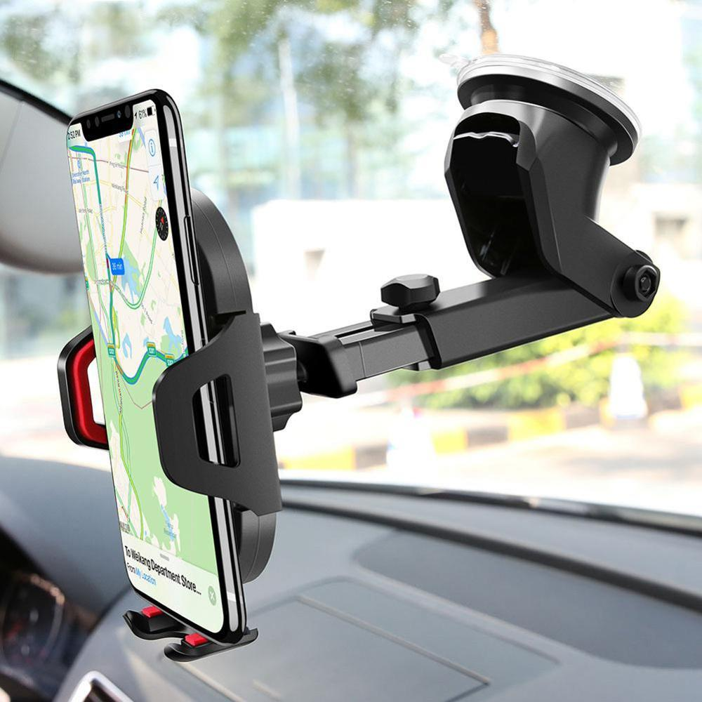 2020 New Group Vertical Windshield Gravity Sucker Car Phone Holder for IPhone X 11 Holder Car Mobile Support Smartphone Stand(China)