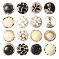 6pcs/lot 21MM Beautiful pearl Metal Button for Coat Scrapbooking Sewing Garment Supplies Clothing Accessories DIY Crafts