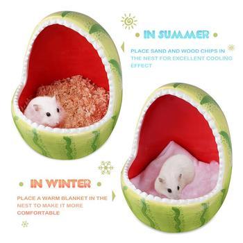 Ceramic Hamster House Cartoon Watermelon Shark Shape Small Animal Pet Nesting Habitat Cage Accessories Watermelon Shark Pet Pot 2