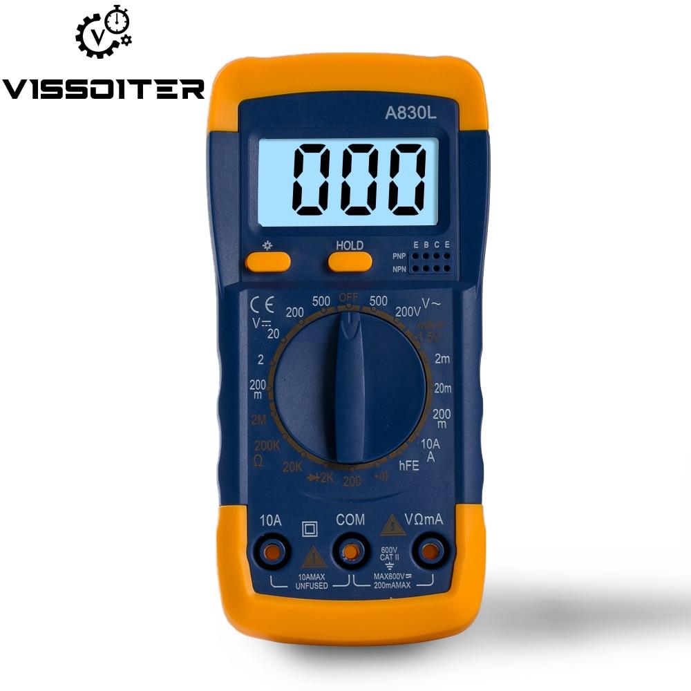 US $1.09 34% СКИДКА|Цифровой мультиметр ЖК дисплей AC DC напряжение диод Freguency ручной мультитестер ток тестер световой дисплей зуммер функции|Мультиметры| |  - AliExpress