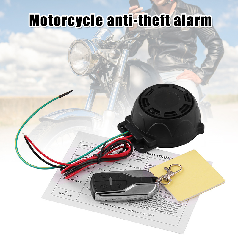Hot Motorcycle Bike Vehicle Alarm Anti Theft Security System Lock With Easy Arming/Disarming J99
