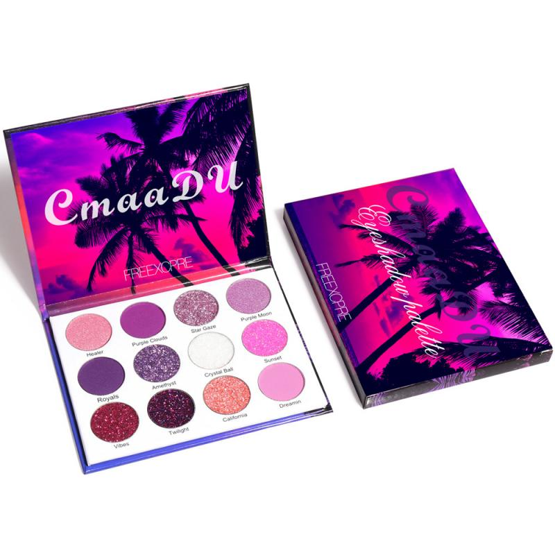 CmaaDu 12 Color Glitter Eyeshadow Eye Makeup Pallete Matte Shimmer Eye Shadow Palette Waterproof Long lasting