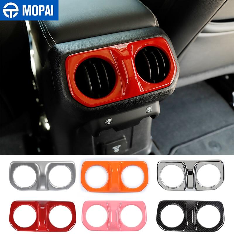MOPAI-compartimento de reposabrazos para coche pegatina decorativa para salida de aire acondicionado, para Jeep Wrangler JL 2018 Up, para Jeep Gladiator JT 2018 +