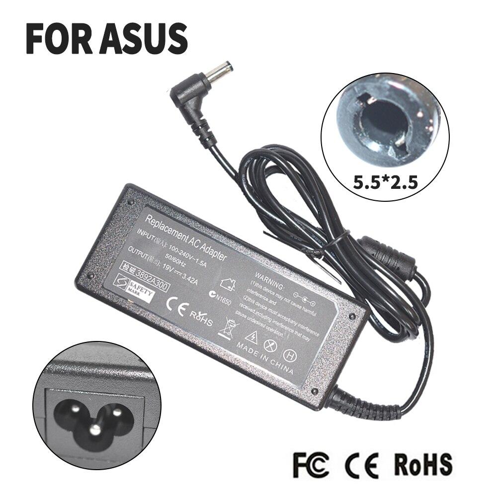 Замена для Asus 19V 3.42A 5,5*2,5 MM 65W k50ij K40IJ x550c A52F K501 K50IJ K50i K52F ноутбук AC зарядное устройство адаптер питания