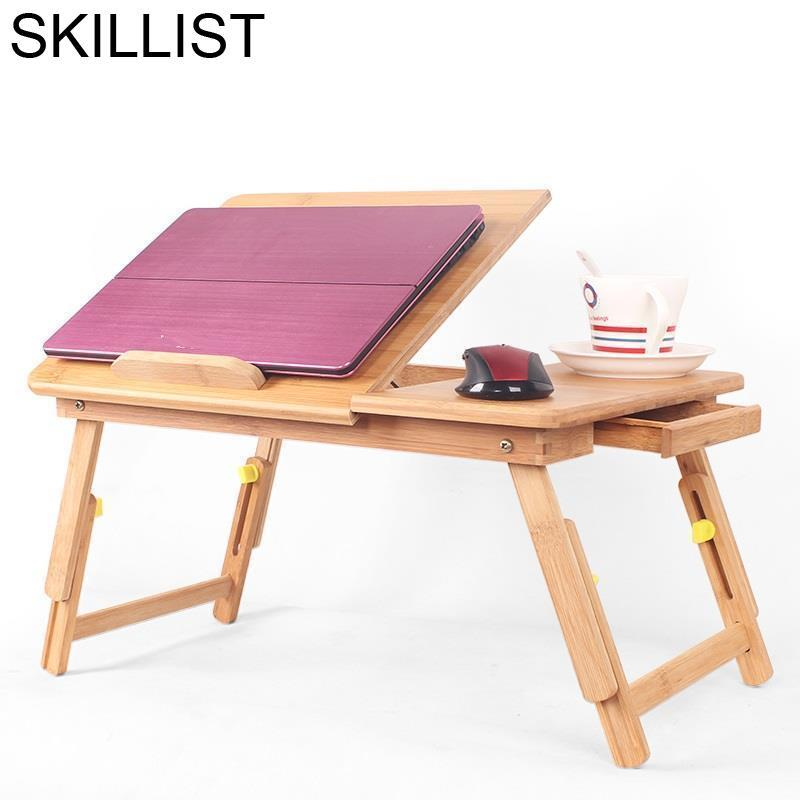 Office Furniture Biurko Lap Bed Tray Mesa Dobravel Escritorio Mueble Bambu Stand Tablo Laptop Study Table Computer Desk