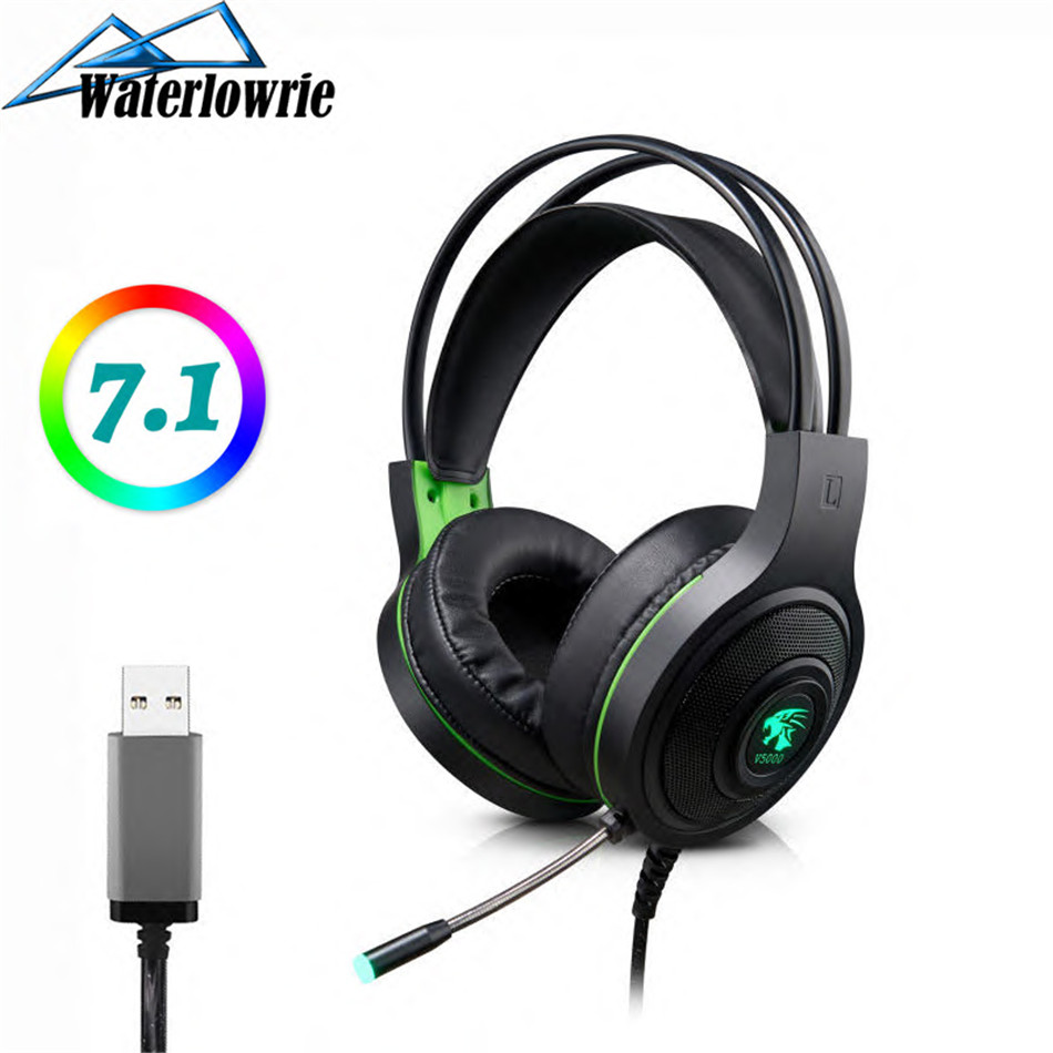 Gaming Headphone Earphone 7.1 Channel 3D Stereo Headset Noise Cancelling with Microphone for PS4 / Laptop / PC Tablet Game image