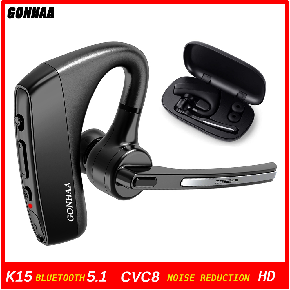Bluetooth-гарнитура, беспроводные Bluetooth-наушники HD с функцией шумоподавления и двойным микрофоном CVC8.0, подходит для смартфонов